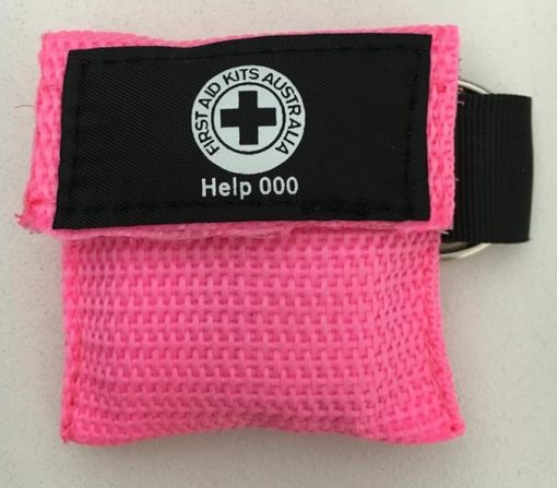 Pink CPR Face Mask Key Ring
