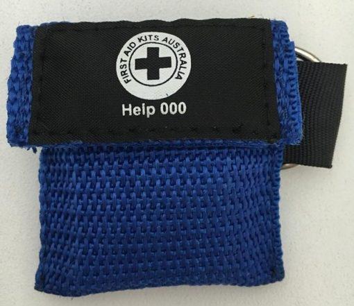 Dark Blue CPR Face Mask Key Ring