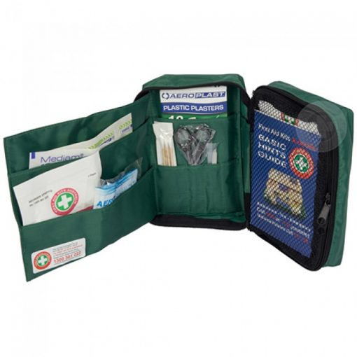 Front Content of travel first aid kit